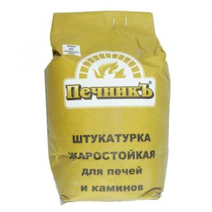"""Штукатурка жаростойкая для печей и каминов """"Печникъ""""  3,0 кг 1402053"""