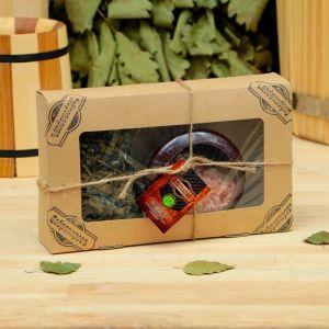 """Подарочный набор «Добропаровъ», 2 предмета: """"Калмыцкий чай"""", испаритель с гималайской солью 4180389"""