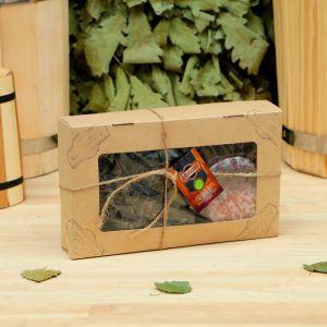 """Подарочный набор «Добропаровъ», 2 предмета: """"Походный чай"""", испаритель с гималайской солью   4180390"""