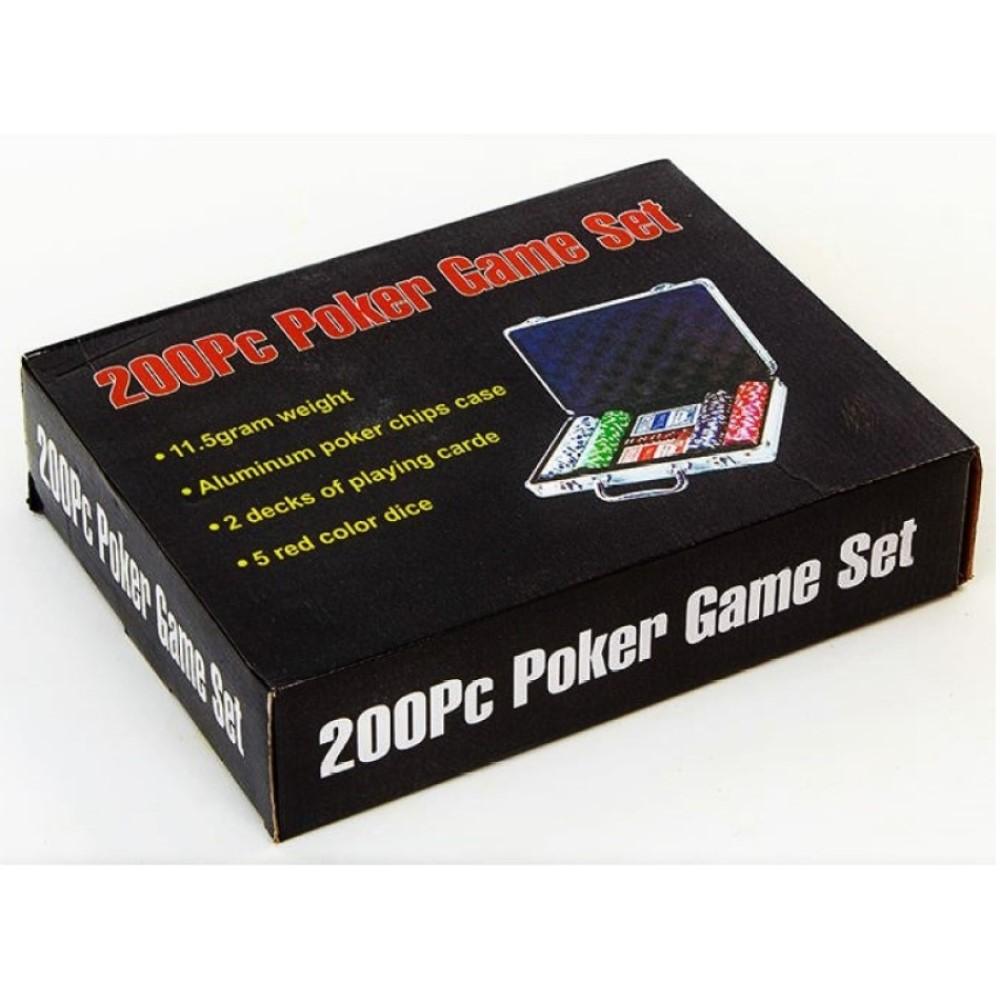 Набор покера на 200 фишек в алюминиевом кейсе