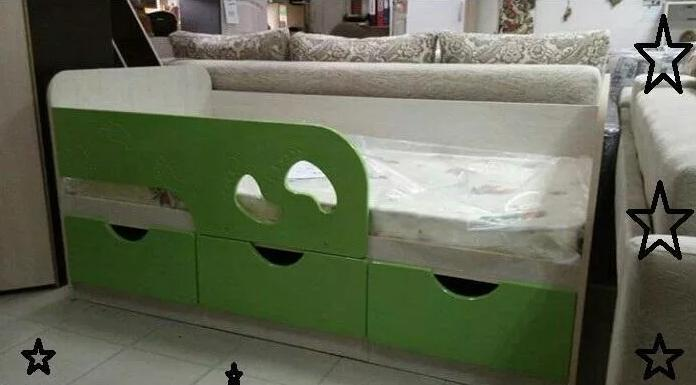 """Кровать детская """"Минима.Лайм"""""""