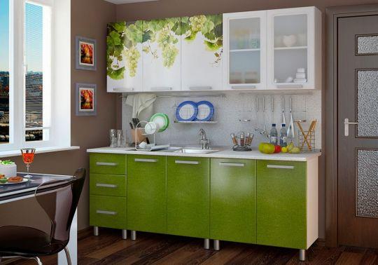 Кухня Люкс Лоза с фотопечатью МДФ 2.0 м