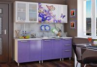 Кухня Люкс Ирис с фотопечатью МДФ 2.0 м