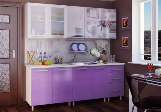 Кухня Люкс Акварель с фотопечатью МДФ 2.0 м