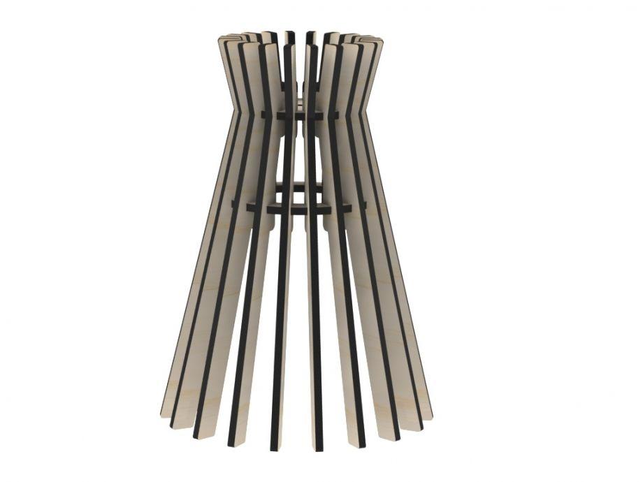 Деревянный светильник подвесной конусовидный