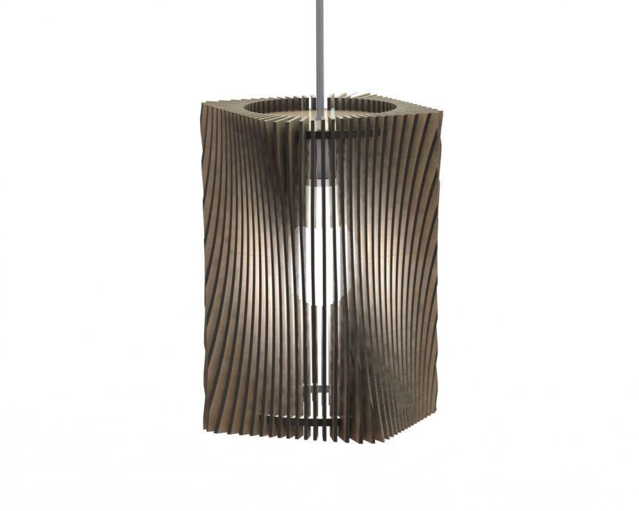 Деревянный светильник подвесной с изгибами