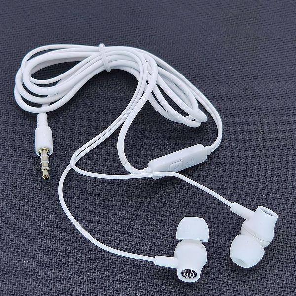 EZRA EP09 Белые наушники вакуум - гарнитура