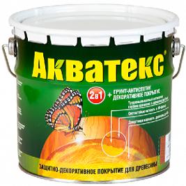 Антисептик Акватекс 3л Махагон Цветной для Внутренних и Наружных Работ