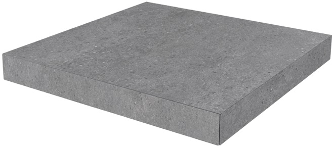 DL500900R/GCA | Ступень угловая клееная Фондамента серый