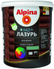 Лазурь для Дерева Alpina Аква Лазурь 2.5л без Запаха Универсальная для Внутренних и Наружных Работ
