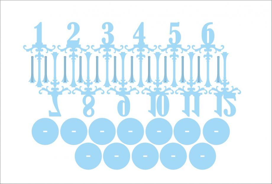 Номера на стол на палочках с подставкой