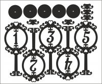 Номера на стол круг