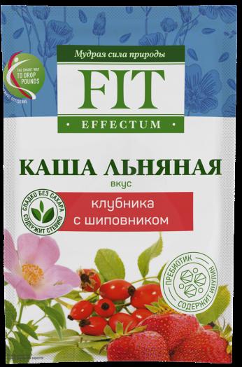 ФИТПАРАД Каша льняная Клубника с шиповником 25 г