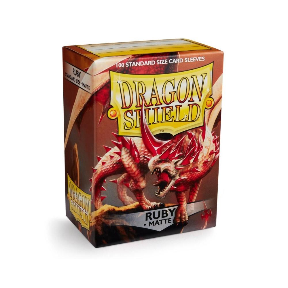 Протекторы Dragon Shield матовые рубиновые Rubis (100 шт.)