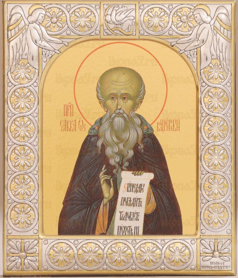 Икона Савва Освященный преподобный (9х10,5см)