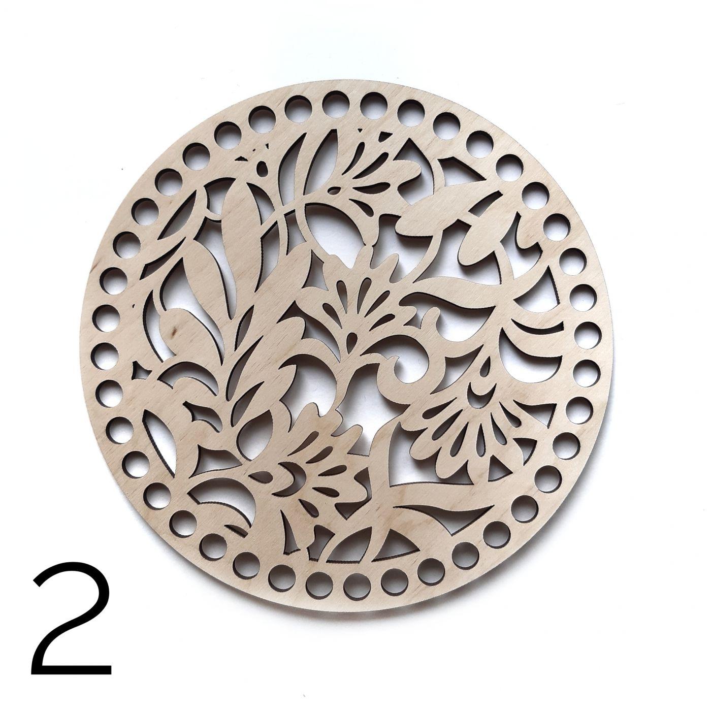 Круг резной фанера 4 мм 16 см 2