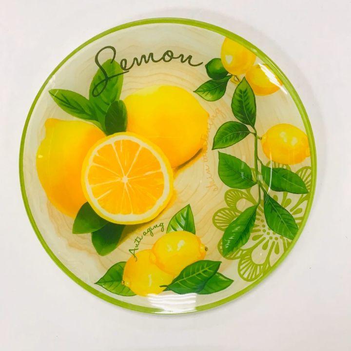 Тарелка формы круг мален.раз. серии Лимонная феерия 23*23см