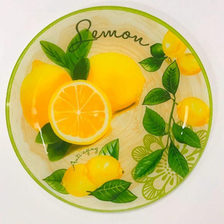 Тарелка формы круг мален.раз. серии Лимонная феерия 28*28см