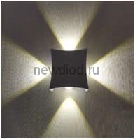 Светильник светодиодный настенный LINZA 20-102 4W-Сree 4000К 100*100*45mm черный Oreol