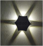 Светильник светодиодный настенный LINZA 20-102 6W-Сree 4000К 135*45mm черный Oreol