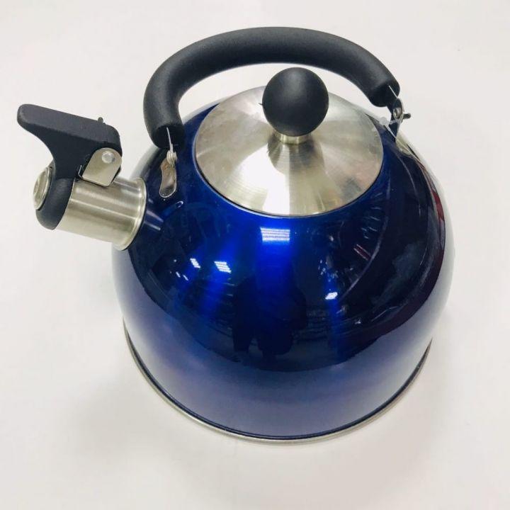 Чайник Martin 2,5л синий из нерж. стали со свист.