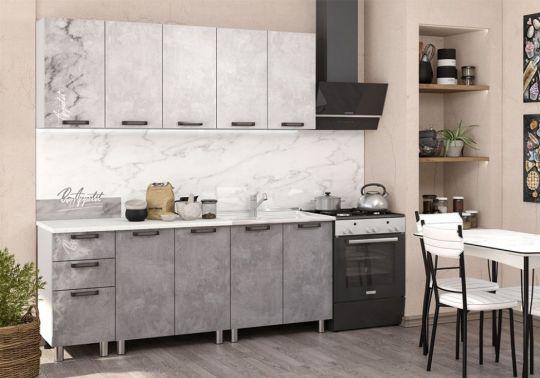 Кухня Bon Appetit 2.0 м (Серый камень)
