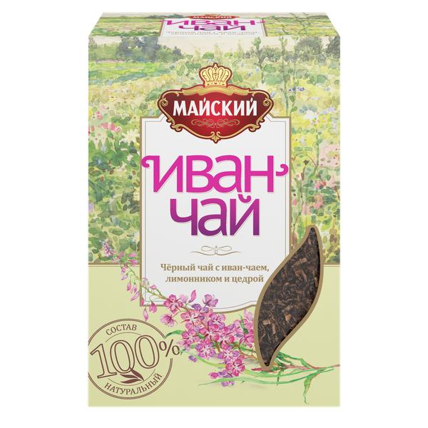 Чай Майский черный Иван-чай с лимонником 75г