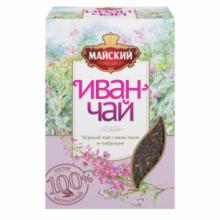 Чай Майский черный Иван-чай с чабрецом 75г