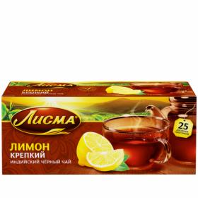 Чай Лисма Крепкий Лимон 25пак