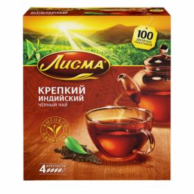 Чай Лисма крепкий с/я 100пак