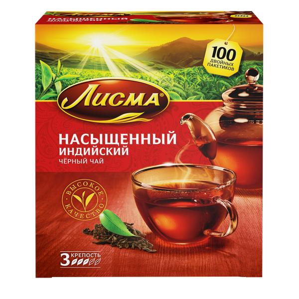 Чай Лисма насыщенный с/я 100пак