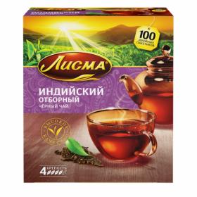 Чай Лисма Отборный (Индия) с/я 100пак*2г