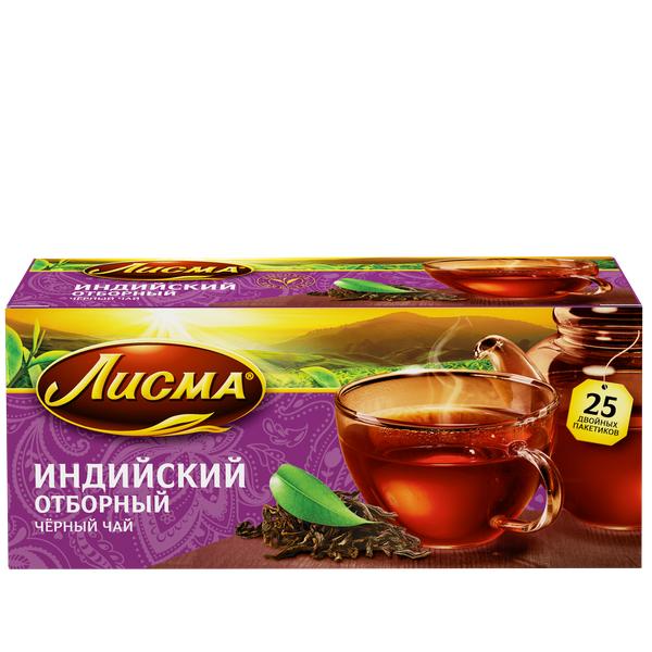 Чай Лисма Отборный (Индия) с/я 25пак*2г