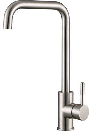 Смес кухня 35мм RUSANT РС-К391 с боковой ручкой Г-обр гусак на гайке НЕРЖ