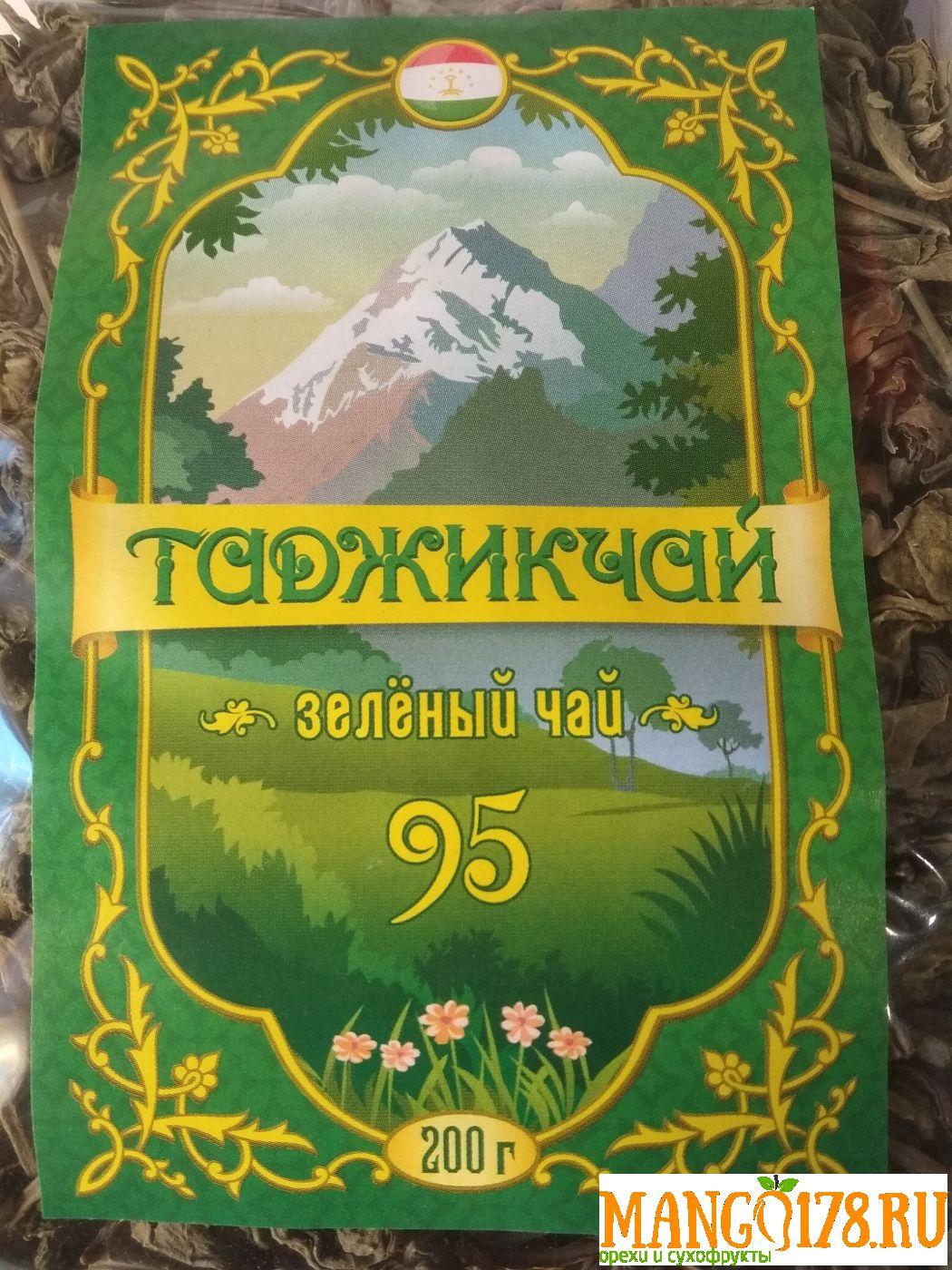 Чай зелёный 95 листовой Таджикистан 200 гр