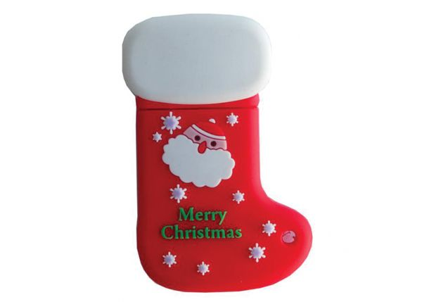 8GB USB-флэш накопитель Apexto SOC Красный новогодний носок