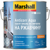Грунт-эмаль 3в1 на Ржавчину Marshall Anticorr Aqua 0.5л по Металлу, без Запаха, Белый / Маршалл Антикор Аква