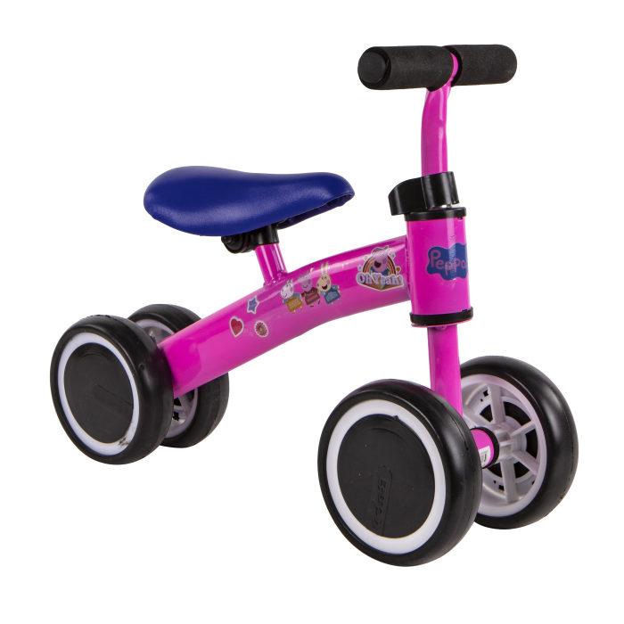 Беговел 4-х кол, Peppa Pig, стальная рама, колеса EVA