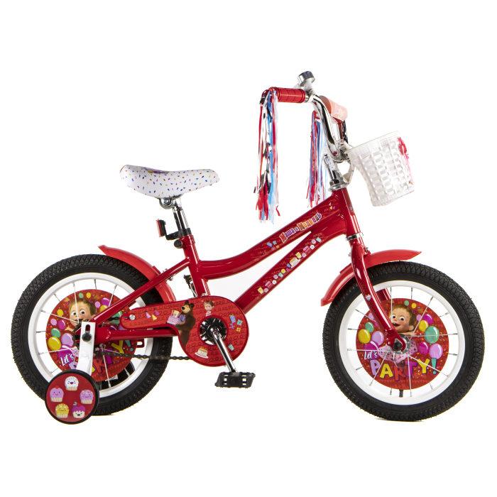 Детский велосипед, Маша и Медведь, колеса 14