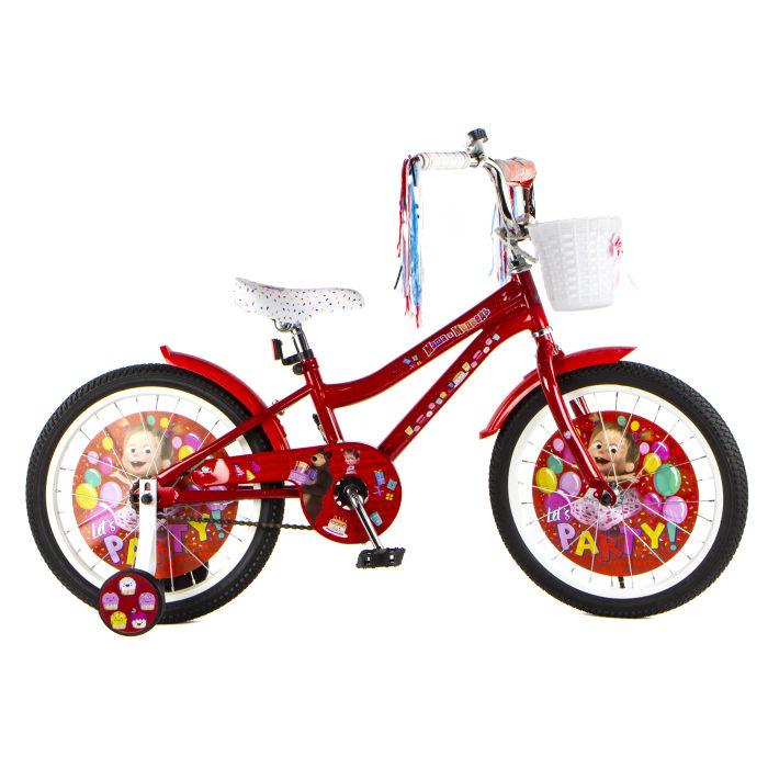 Детский велосипед, Маша и Медведь, колеса 18