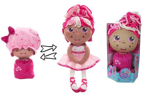 1TOY кукла плюш.Девчушка-вывернушка Катюшка 2-в-1 23-38 см,кор.16х14,5х28,5 см
