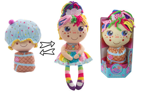 1TOY кукла плюш.Девчушка-вывернушка Настюшка 2-в-1 23-38 см,кор.16х14,5х28,5 см