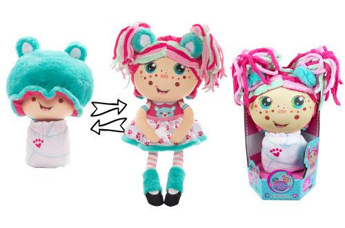1TOY кукла плюш.Девчушка-вывернушка Надюшка 2-в-1 23-38 см,кор.16х14,5х28,5 см