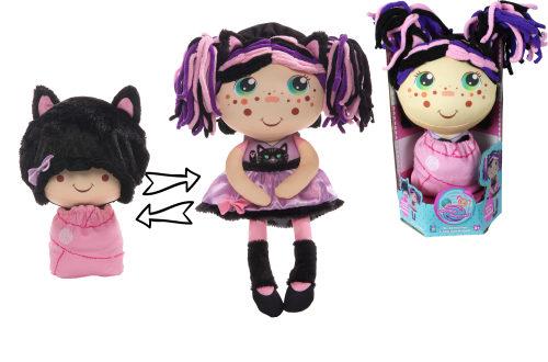 1TOY кукла плюш.Девчушка-вывернушка Танюшка 2-в-1 23-38 см,кор.16х14,5х28,5 см