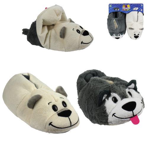 1toy плюш.Вывертапки Хаски-Полярный медведь,детские L,размер 31-33,подвес,пакет