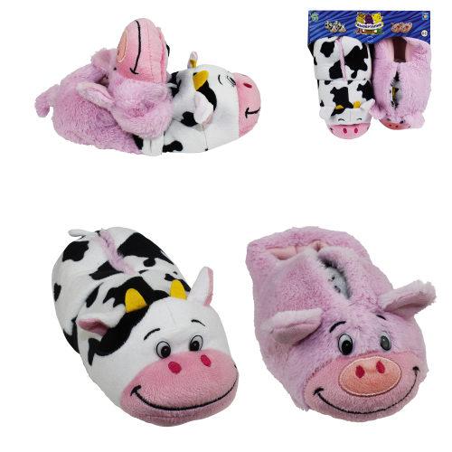 1toy плюш.Вывертапки Корова-Свинья,детские L,размер 31-33,подвес,пакет