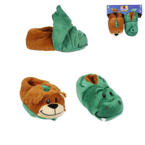 1toy плюш.Вывертапки Крокодил-Медведь,детские М,размер 28-30,подвес,пакет