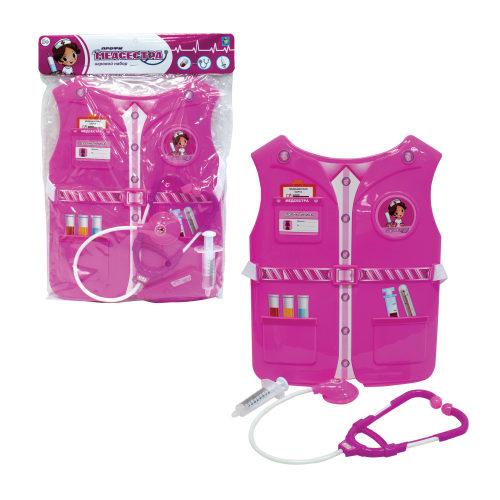 Набор 1toy костюм Профи с жилетом-Медсестра 39х28х4 см., 3 предмета , размер жилета 26х32*0,5 см.