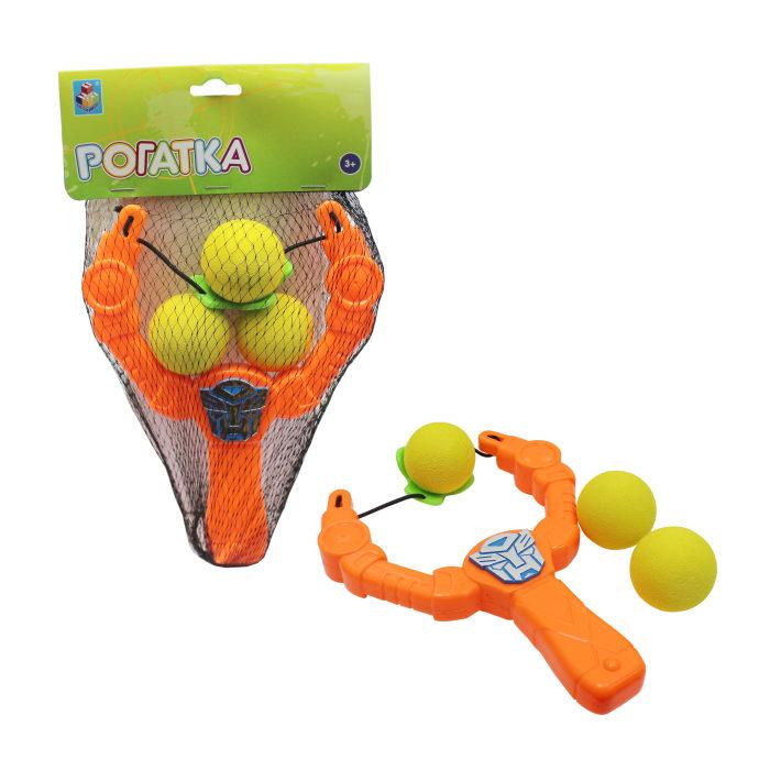 1toy Игрушка оружие: рогатка с шариками