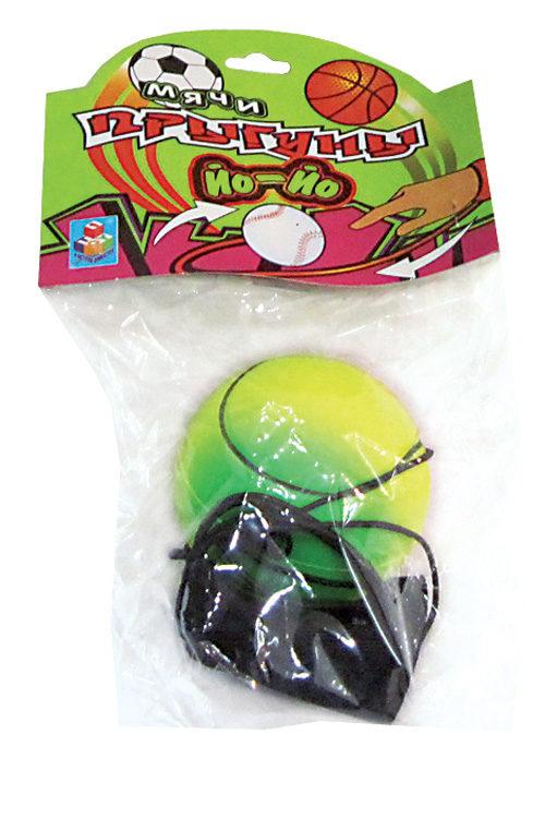 1toy мячик Йо-Йо на руку спорт радуж.цвет 6см в пакете с хед.